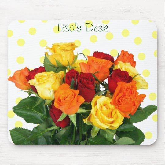Colourful Roses Mousepad