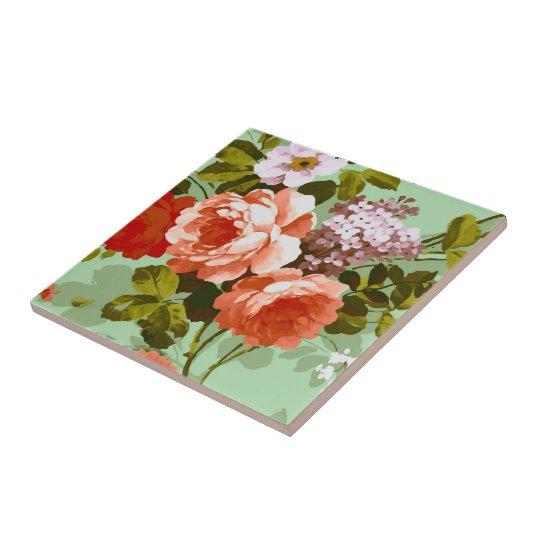 Colourful Roses Tile