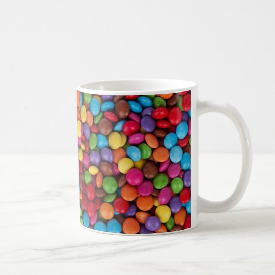 Colourful Round Chocolate Candy Sweets Coffee Mug