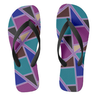 Colourful sandals flip flops