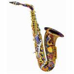 Colourful Saxophone Piano Table Sculpture Photo Sculptures