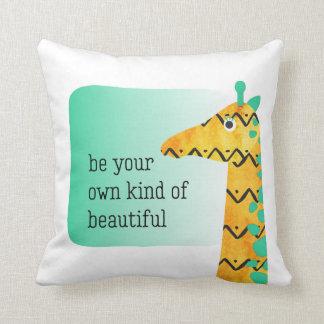 Colourful Scandinavian Style Giraffe Cushion