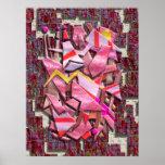 Colourful Scrap Metal Print