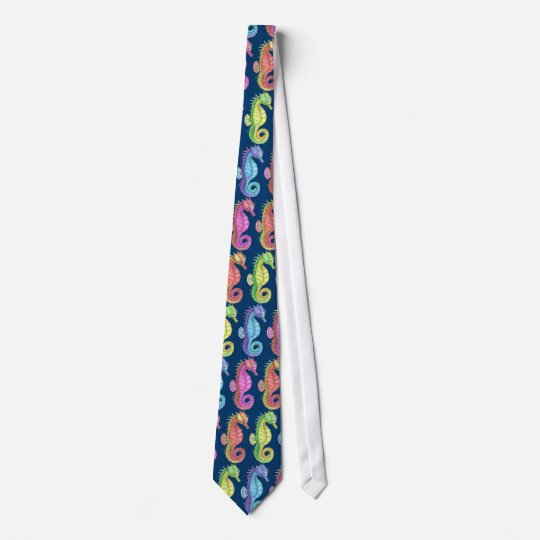Colourful Sea Horses Tie