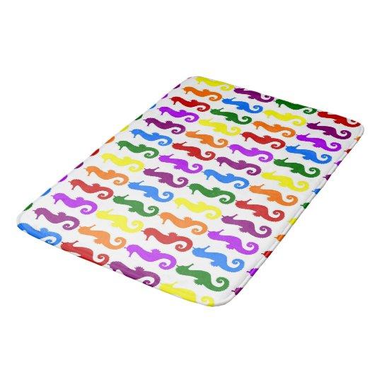 Colourful Seahorses Bath Mat