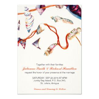 Colourful Seashells | Beach Wedding Invitations