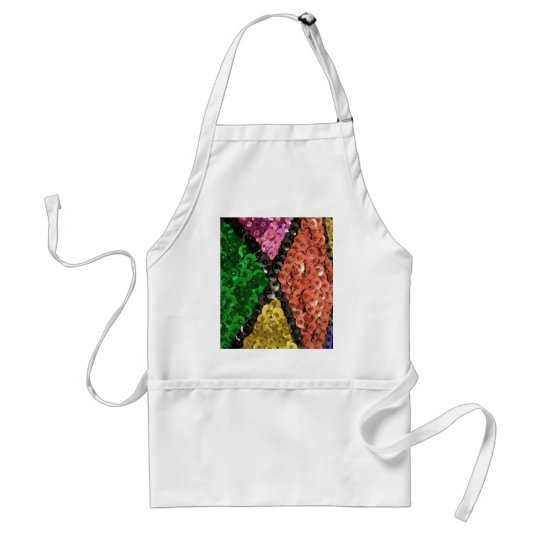 Colourful Sequins Bling Pattern Standard Apron