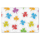 Colourful Shamrocks Tissue Paper