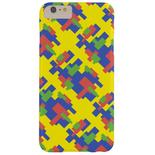 Colourful shape design barely there iPhone 6 plus