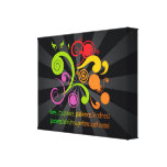 Colourful Shapes, Fruit of the Spirit Stretched Canvas Prints