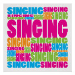 Colourful Singing Poster