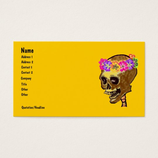 Colourful Skeleton Skull Business Card
