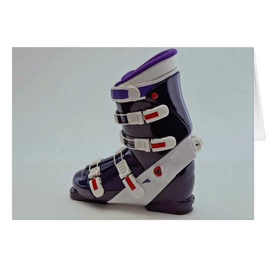 Colourful Ski boot Card