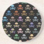 Colourful Skull & Cross Bones