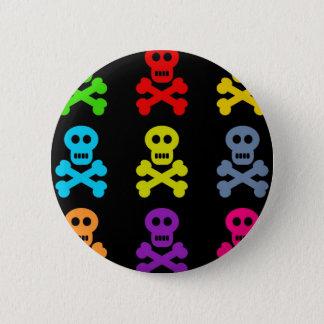 Colourful Skulls 6 Cm Round Badge
