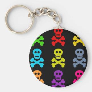 Colourful Skulls Key Ring