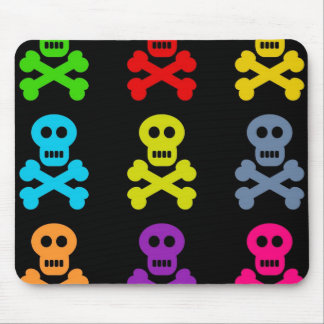 Colourful Skulls Mouse Mat