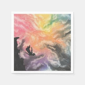 colourful sky dive disposable napkin