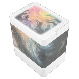 colourful sky dive igloo cooler