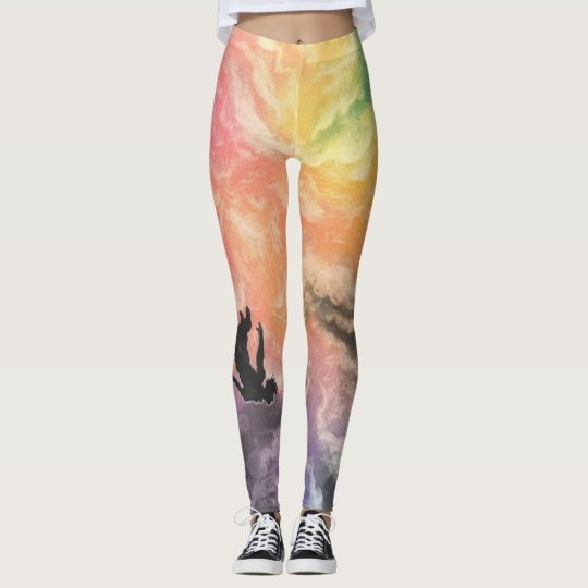 colourful sky dive leggings