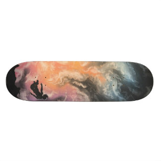 colourful sky dive skateboard deck