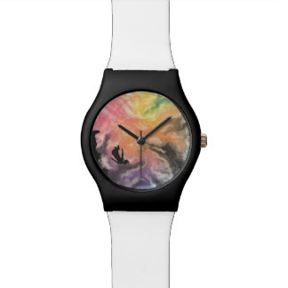 colourful sky dive wrist watches