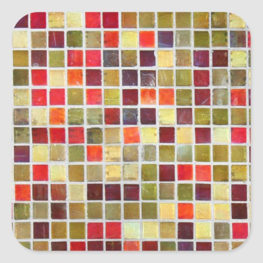 Colourful Small Tiling Background Square Sticker