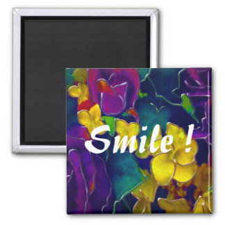 Colourful Smile Square Magnet