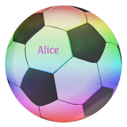 Colourful Soccer Ball (football) Plate