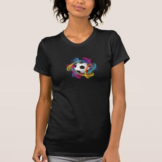 Colourful Soccer Ball Womens T-Shirt