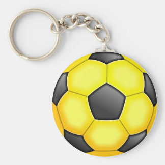 Colourful Soccer Balls Basic Round Button Key Ring