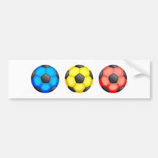 Colourful Soccer Balls Bumper Sticker