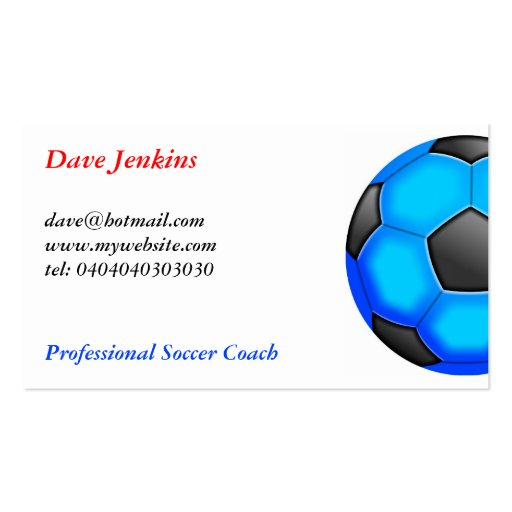 Colourful Soccer Balls Business Card