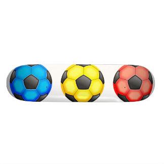 Colourful Soccer Balls Skate Board Deck