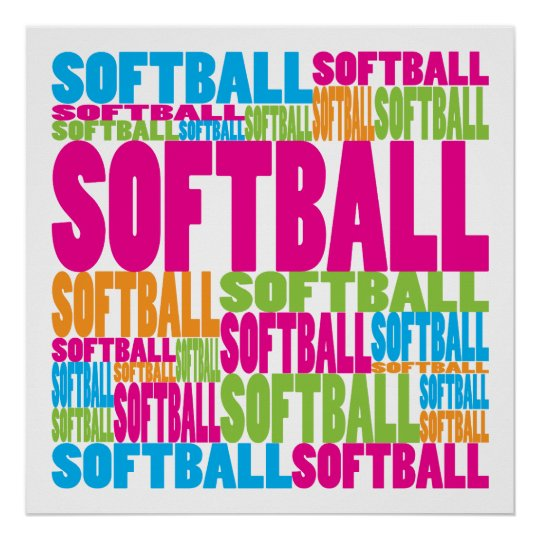 Colourful Softball Poster