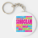 Colourful Sonogram Keychain