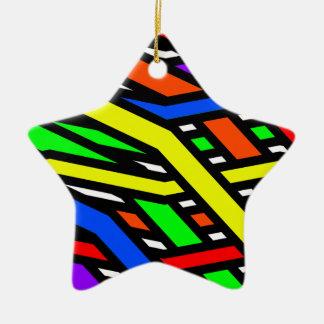 Colourful Spaghetti Christmas Ornament