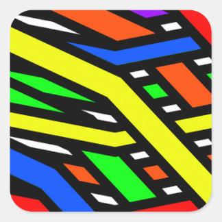 Colourful Spaghetti Square Sticker