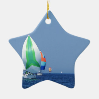 Colourful Spinnakers Ceramic Star Decoration