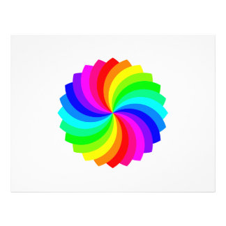 Colourful spinning pallette 21.5 cm x 28 cm flyer