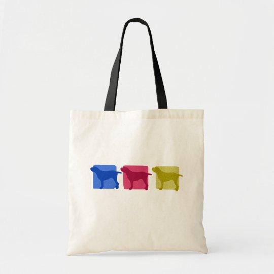 Colourful Spinone Italiano Silhouettes Tote Bag