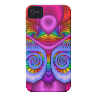 Colourful Spiral Fractal iPhone 4 case