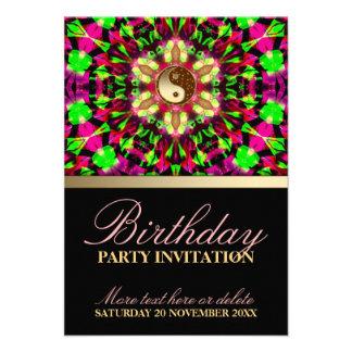 Colourful Spirit Birthday Party Invitation