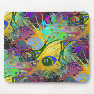 colourful splatter mouse pad