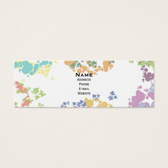 Colourful spots horizontal skinny business card