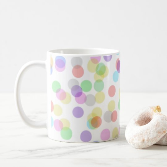 Colourful spotty, dotty design mug