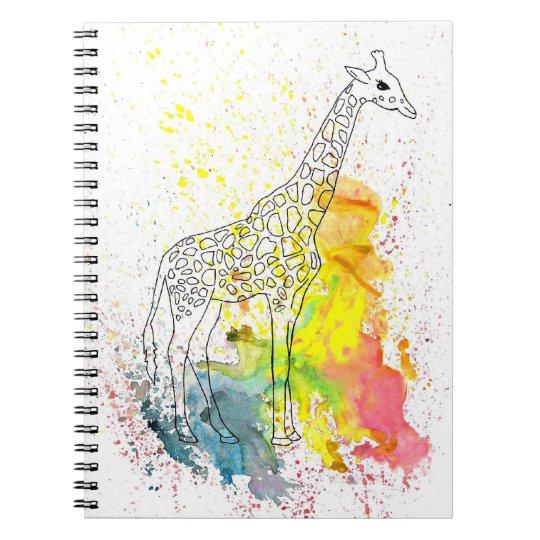 Colourful Spotty Giraffe (Kim Turnbull Art) Notebooks