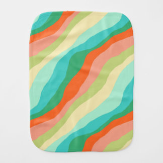Colourful Spring Abstract Pattern Burp Cloth