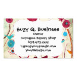 Colourful Spring Flowers Birds Mulberry Blue Pack Of Standard Business Cards
