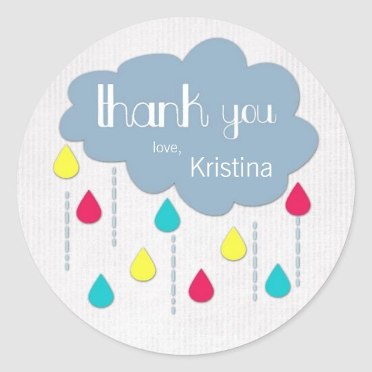 Colourful Sprinkles Baby Shower Thank You Stickers
